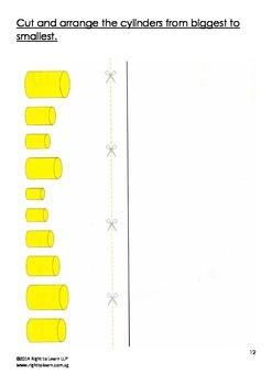 Montessori Knobless / Knobbless Cylinders Worksheets Activity