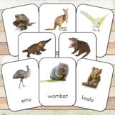 Montessori Land Down Under 3 Part Cards