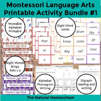 Montessori Language Arts Curriculum Bundle 1
