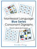 Montessori Language - Blue Level Word Labels & Images