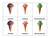 Montessori 3 part Language Cards - Ice-Cream Cones