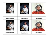 Montessori 3 part Language Cards - Astronauts