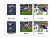 Montessori 3 part  Language Cards - Sports
