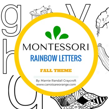 Montessori Language Letter Writing Practice - RAINBOW LETTERS - FALL THEME