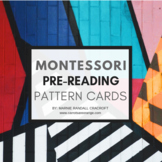 Montessori Language Pre-Reading Simple Pattern Cards