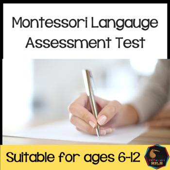 Montessori Language Test for assessment