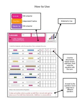 Montessori Little Addition (Commutative Property) Workbook