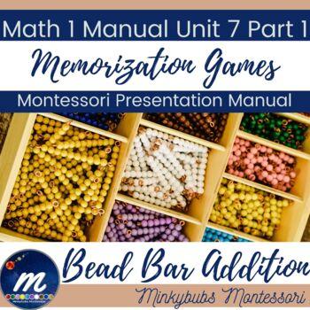 Montessori Little Addition Memorization Games using Snake Game and Bead Bars