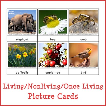 Montessori Living - Nonliving - Once Living Sorting Cards