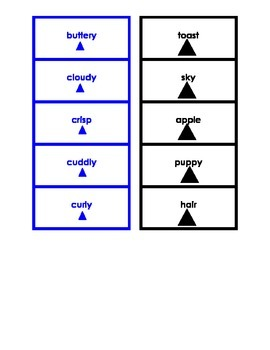 Montessori Logical Adjective Card Set #1