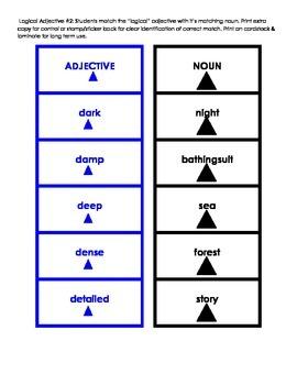 Montessori Logical Adjective Card Set #2