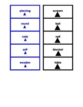 Montessori Logical Adjective Card Set #4