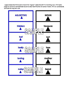 Montessori Logical Adjective Card Super Pack! Four Activities!