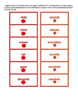 Montessori Logical Adverb Card Set #1