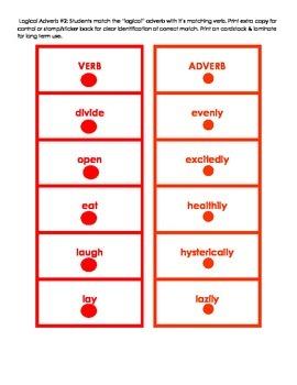 Montessori Logical Adverb Card Set #2