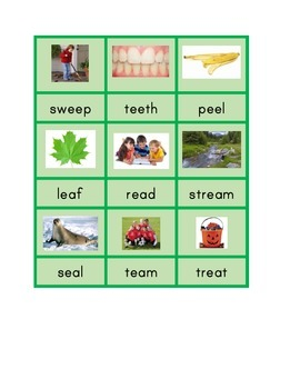 Montessori Long Vowel Patterns Phonics Spelling Cards