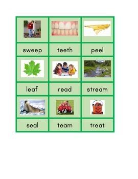 Montessori Long Vowel Patterns Phonics Spelling Cards