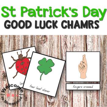 Montessori Lucky charms (symbols) 3 part cards
