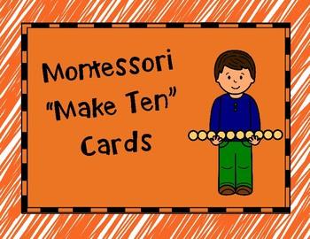 Montessori Make Ten Cards
