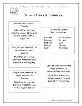 Montessori Maps & Research - Oceania