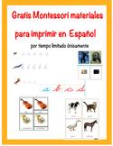 Montessori Materials in Spanish