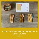 Montessori Math Bead Bar Clip Cards