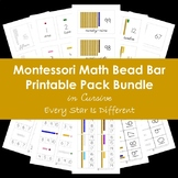 Montessori Math Bead Bar Printable Pack Bundle in Cursive
