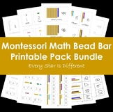 Montessori Math Bead Bar Printable Pack Bundle in Print