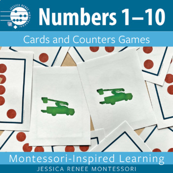 Montessori Math Cards and Counters Games