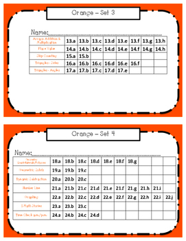 Montessori Math Command Cards - 2nd grade work plans