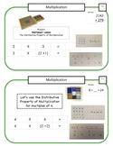 Montessori Math Command Cards / 3rd Grade / Set 1 of 4