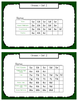 Montessori Math Command Cards - 3rd grade work plans