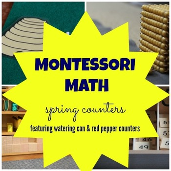 Math Counters - Spring Theme