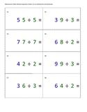 Montessori Math Division Equation Cards- Static