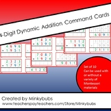 Montessori Math Dynamic Addition Command Cards with Contro