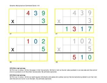1-Digit Multiplier Montessori Multiplication Command Cards & Control of Error 2