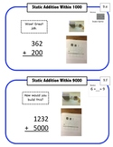Montessori Math Command Cards / 1st Grade-Subtraction&More / set 2 of 5
