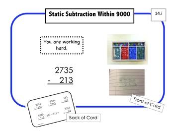 Montessori Math Command Cards / 1st Grade / set 3 of 5