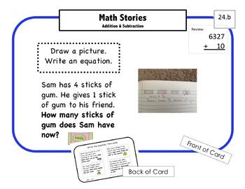 Montessori Math Command Cards / 1st Grade / set 4 of 5