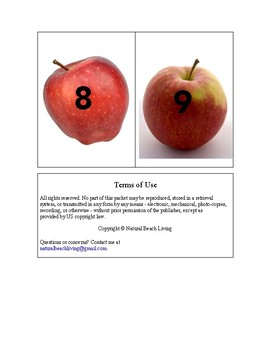 Montessori Math Fall Apple Counting Cards