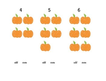 Montessori Math Fall Even & Odd Numerals & Counters