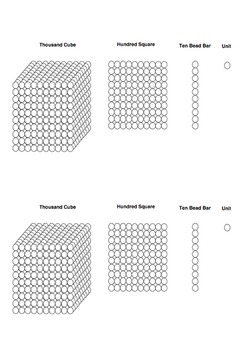 Montessori Math - Golden Beads colouring sheet (Printable)