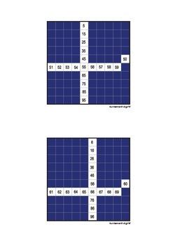 Montessori Math - Hundred Board Control Cards