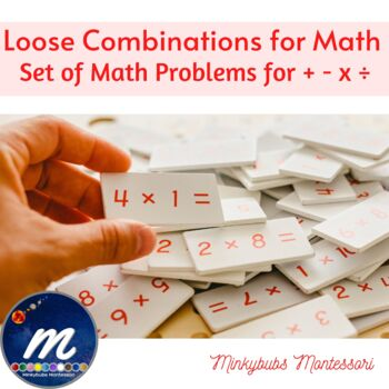 Montessori Math Loose Combinations Equations to use with finger charts