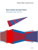 Red Blue Rods Lesson 1 of 2 Montessori Math Lesson Plan Nu