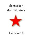 "Montessori Math Master Addition Practice Book ""Red Level"""