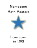 """Montessori Math Master Counting & Place Value to 100 Practice Book- """"Blue Level"""""""