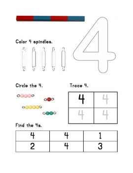 """Montessori Math Master Counting to 10 Practice Book- """"Silver Level"""""""