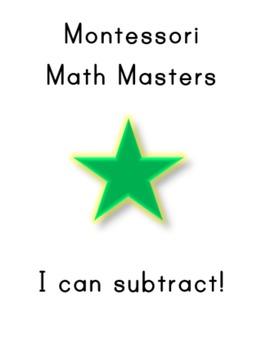 "Montessori Math Master Subtraction Practice Book- ""Green Level"""