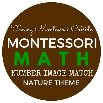 Math Image to Number Match - Nature Theme - Montessori